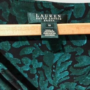 Ralph Lauren Dresses - Ralph Lauren green floral wrap dress
